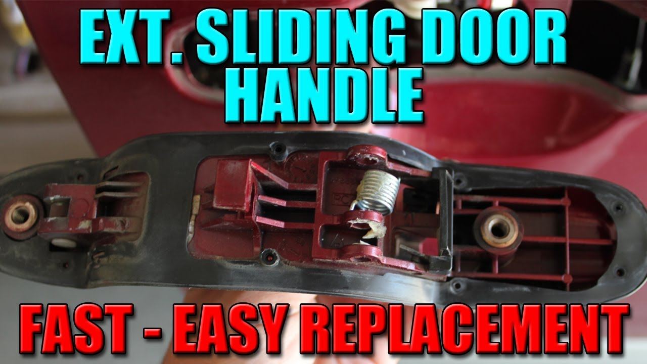 How To Fix Minivan Door Handle Youtube
