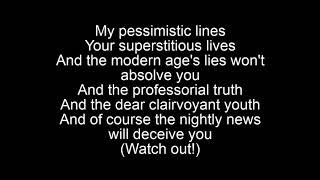Bad Religion-Pessimistic Lines Lyrics