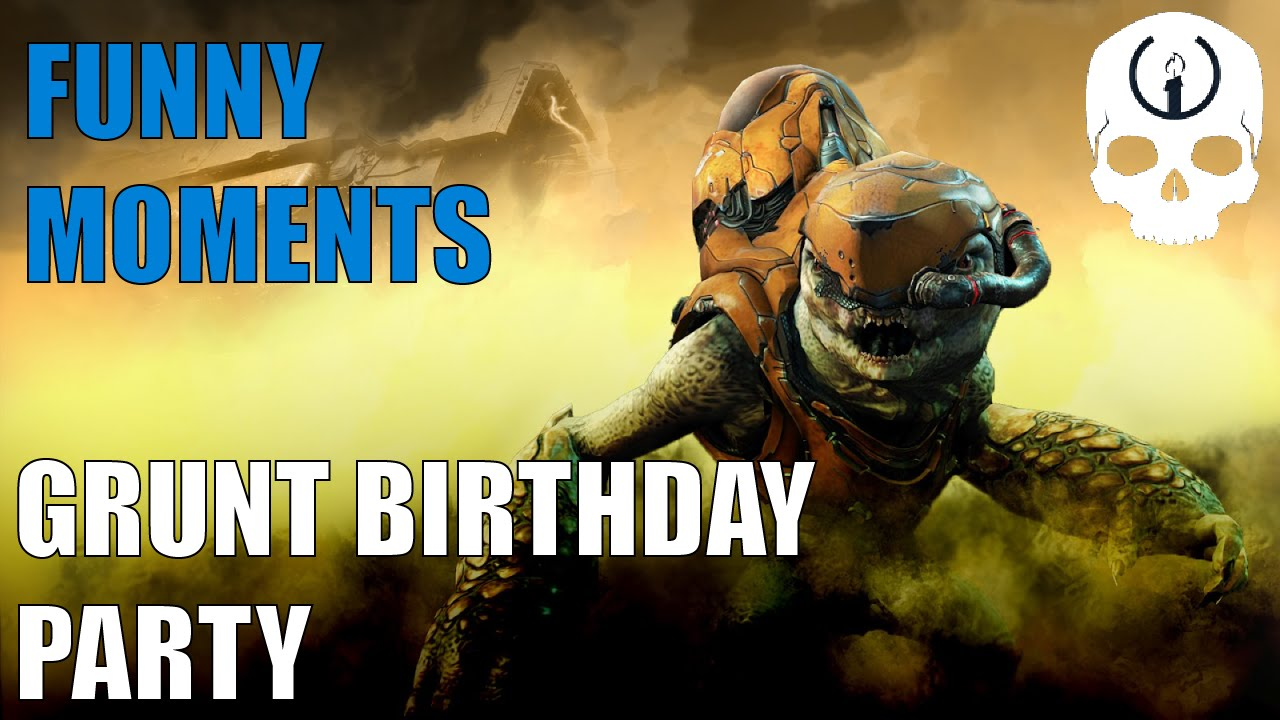 Halo 5 Funny Moments Grunt Birthday Party Subtitles