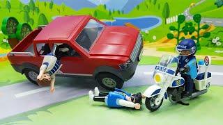 Новые мультики с игрушечными машинками Плеймобил - Побег! Видео для малышей.