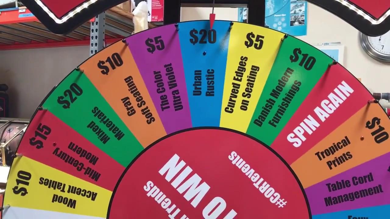 Prize Wheel Carnival Game Rental - Video Amusement San