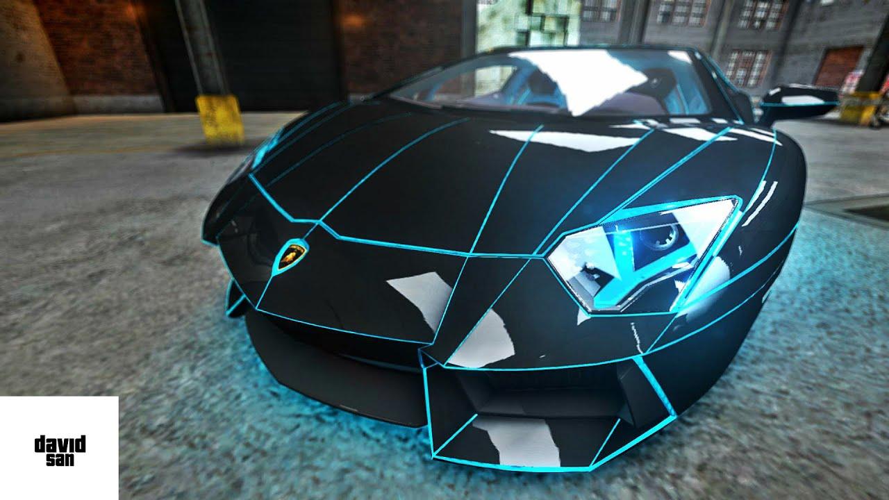 Gta Iv Mod Lamborghini Aventador Tron Edition Youtube