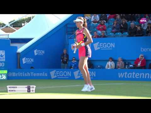 2017 Aegon International Quarterfinals | Johanna Konta vs Angelique Kerber | WTA Highlights