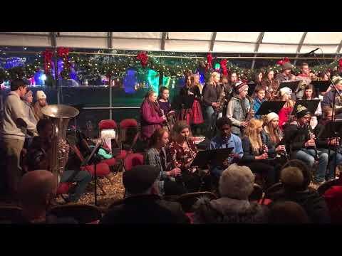 Cashton High School Concert Band, Rotary Lights, Nov. 28, 2017 - Carol of the Bells