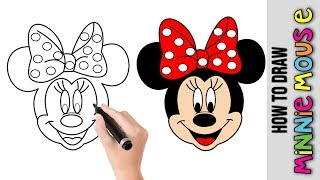 How To Draw Minnie Mouse From Disney ★ Drawings For Kids  ★ Cartoons For Kids