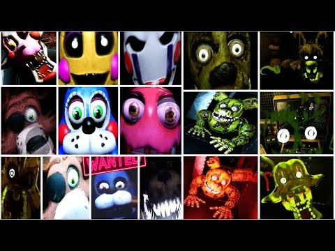 ВСЕ СКРИМЕРЫ ФНАФ 8 - FNAF HELP WANTED - ALL JUMPSCARES - FNAF 8