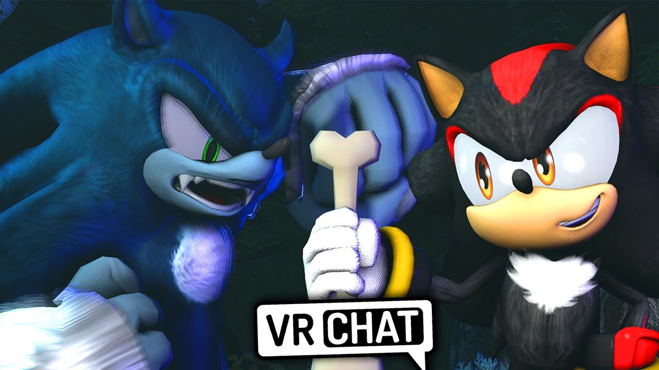 Shadow Meets Sonic The Werehog! (VR Chat)