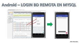 Android - Inicio de Sesión con MySQL - BD Remota
