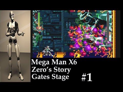 Mega Man X6 Zero's Story Gate Stage 1 Boss Nightmare King Game Play