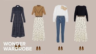 How to style a capsule wardrobe for the pear body type.