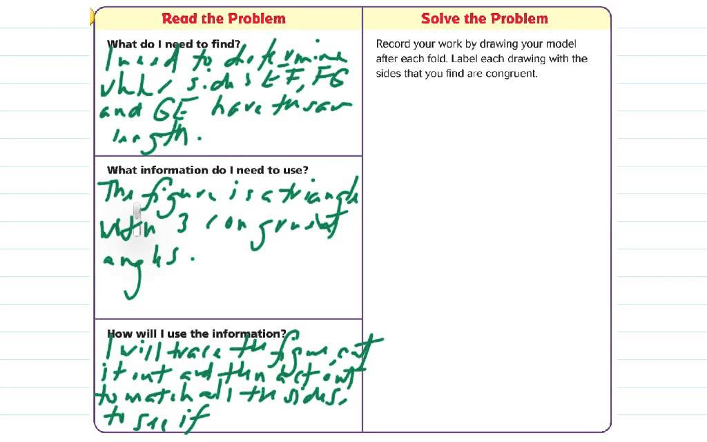 Lesson 11.4 Problem Solving: Properties of Two-Dimensional ...