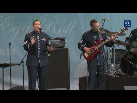 White House Easter Egg Roll: Bunny Hop Stage with the Air Force Band