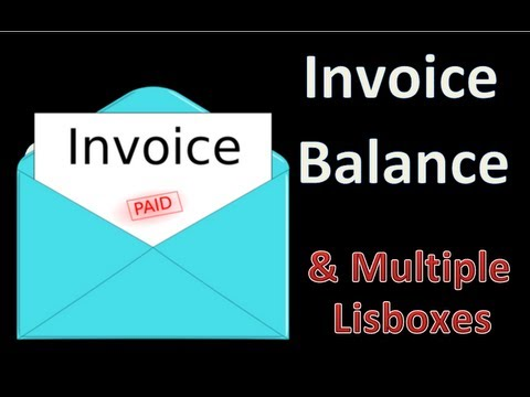 Fill Multiple Listboxes, Get Payments to Date, INVOICE Balances Dynamically! - Excel VBA