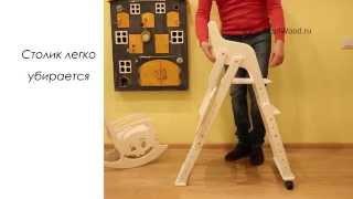 Детский деревянный столик со стульчиком: видео-инструкция как сделать своими руками, фото и цена
