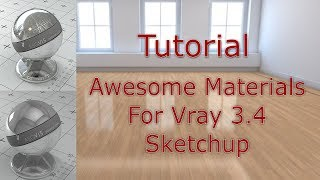 Vray Tutorial - Adding materials in vray 3.4 sketchup