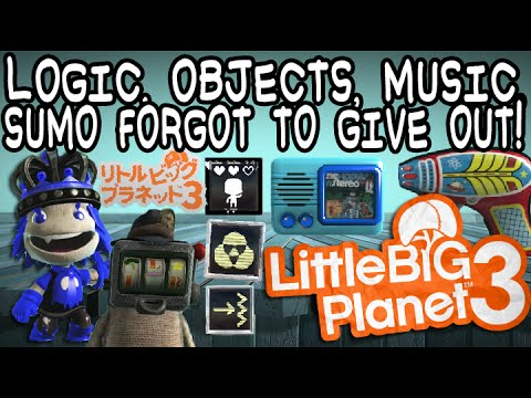 LBP3 Glitch: Stuff Sumo Forgot to Give You! (Logic, Objects, Stickers, Music, etc.!)
