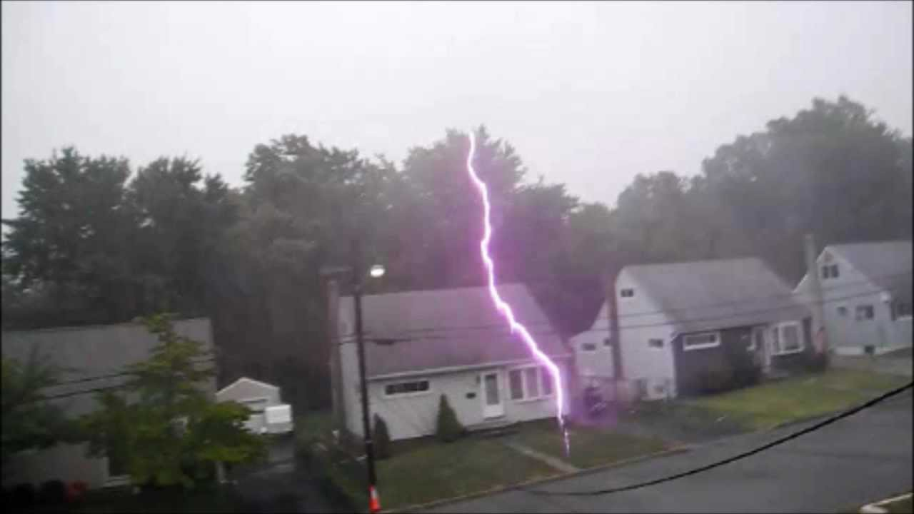 Lightning Strike By The House By Matthoff4designs Youtube