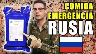 Probando COMIDA DE EMERGENCIA RACIÓN 24 Horas de RUSIA