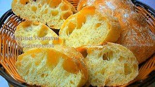 Ciabatta bread Домашний Хлеб Чиабатта Суперлегкий рецепт Чиабатта без замеса Домашний Хлебушек