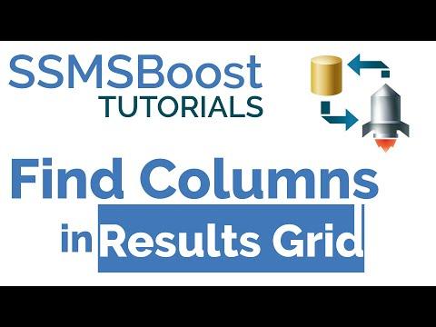 SSMSBoost Tip #5: Find Columns in Results Grid (SQL Server Management Studio)