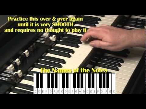 HAMMOND ORGAN & KEYBOARDS FOR BEGINNERS LESSON #2 - B3 and C3 - KEYBOARDS
