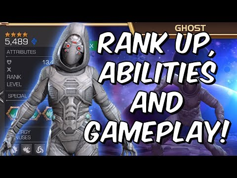 Ghost Rank Up, Abilities and Gameplay! - Marvel Contest Of Champions