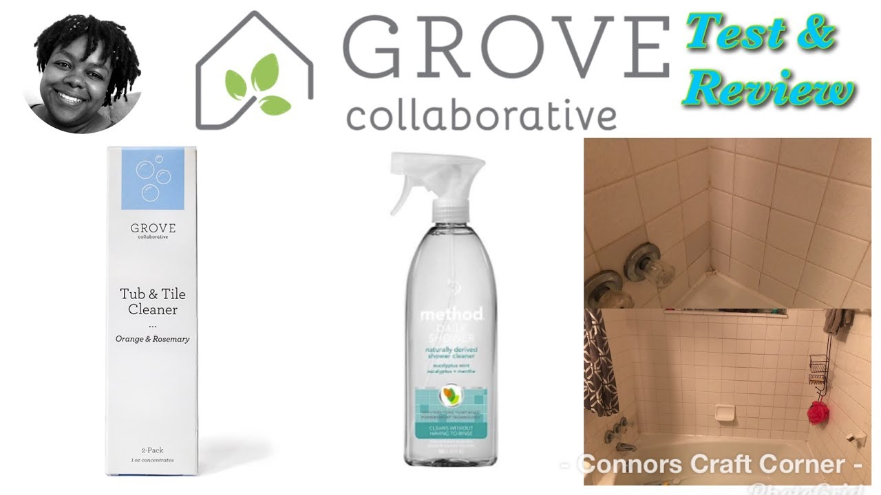 clean with me grove collaborative tub tile cleaner method daily shower test review sahm