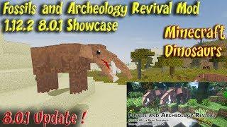 Fossils and Archeology Mod 1.12.2 v 8.0.1 Dinosaur & Animal Update