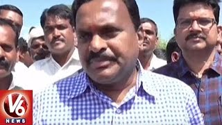 Siddipet Collector Venkata Rama Reddy Participated In Soybean Crop Harvest | V6 News