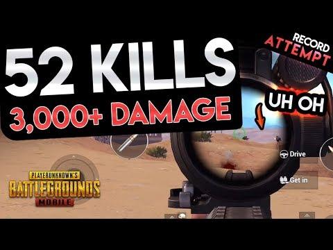 OVER 3,000 DAMAGE DEALT - 52 KILL SQUAD GAME - PUBG Mobile