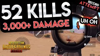 OVER 3,000 DAMAGE DEALT - 52 KILL SQUAD GAME - PUBG Mobile