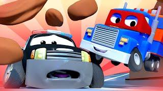 Детские мультики с грузовиками - Скорая грузовик - Трансформер Карл в Автомобильный Город 🚚 ⍟