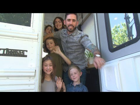 Meet Family Who Traded Their Home for Converted School Bus