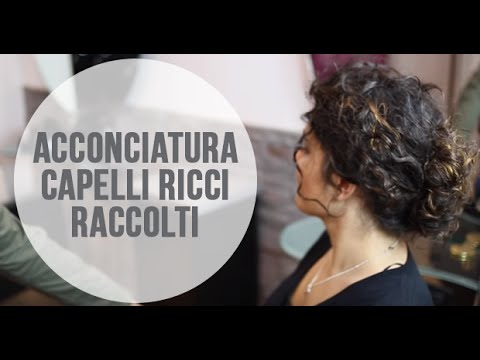 Acconciatura Capelli Ricci Raccolti Facilissima Youtube