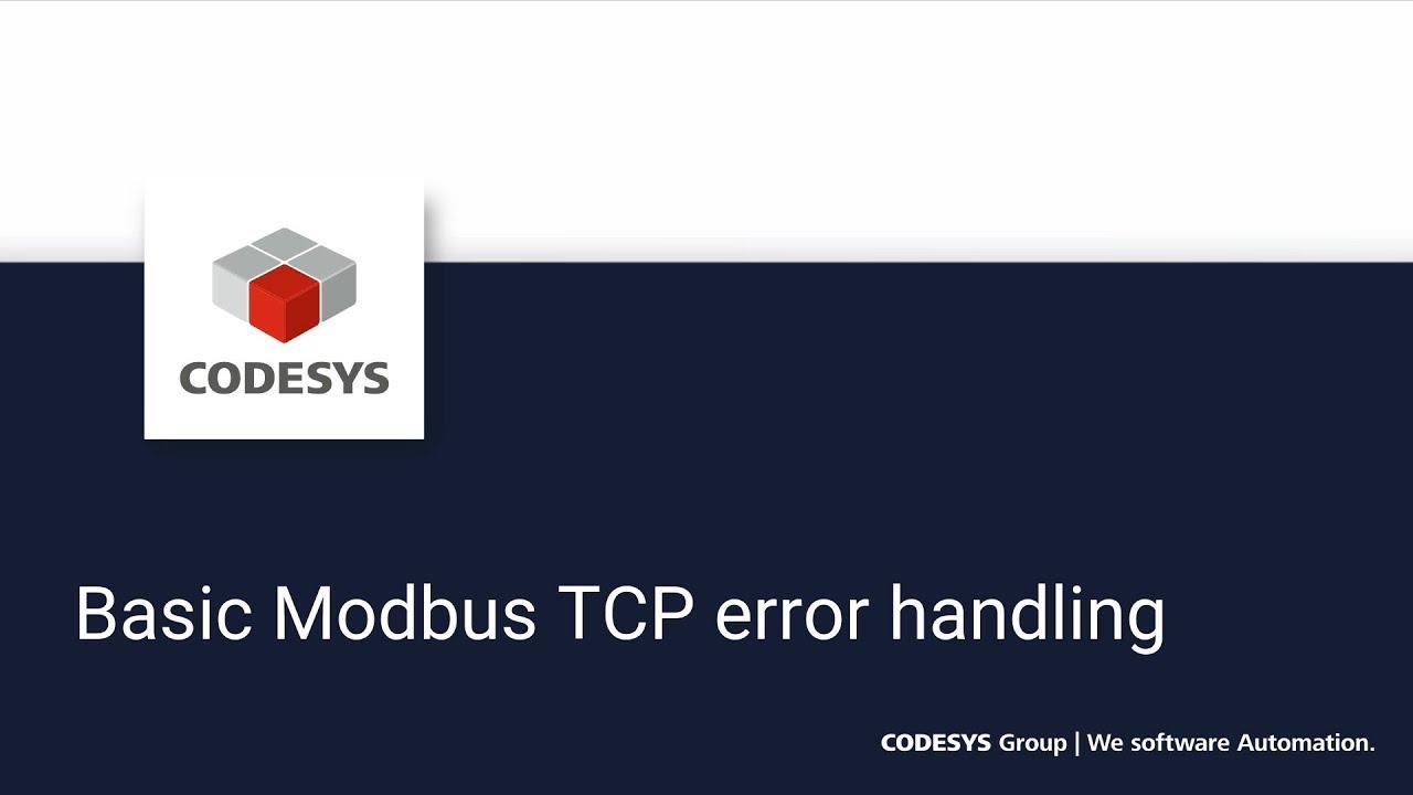 Basic Modbus TCP error handling - Statusi online