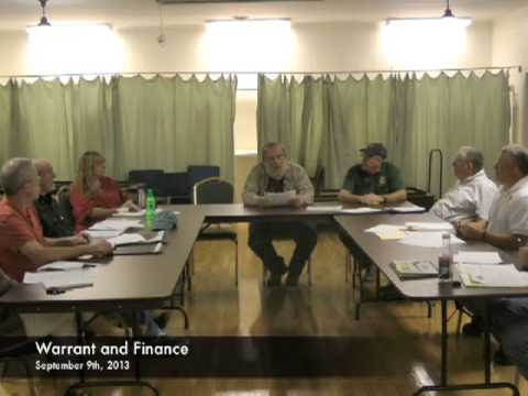 Warrant and Finance - 09-09-2013