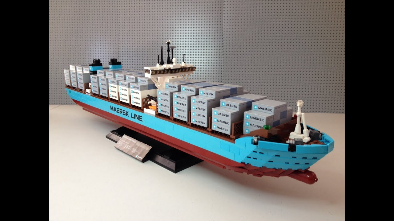 LEGO Maersk Line TripleE Container Vessel Set Full Review - Biggest lego ship