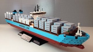 LEGO Maersk Line Triple-E Container Vessel set 10241 full Review