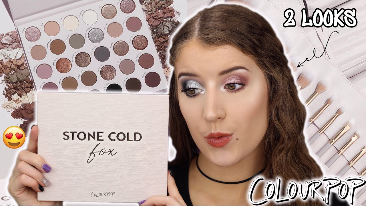 *NEW* COLOURPOP STONE COLD FOX PALETTE 😍 REVIEW + SWATCHES