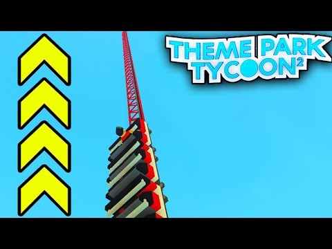 TALLEST COASTER EVER in Theme Park Tycoon 2!! - Roblox