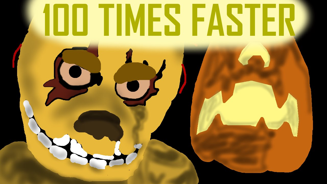 halloween at freddys song 100 times faster youtube - 100 Halloween Songs