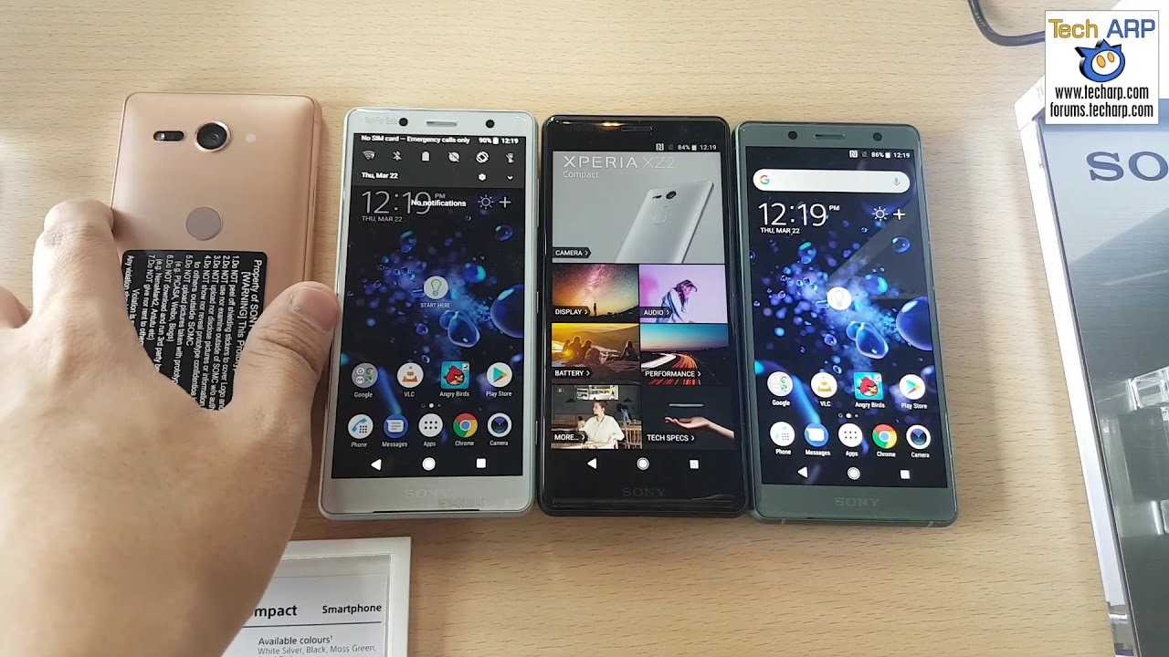The Sony Xperia XZ2 Compact Colour Options