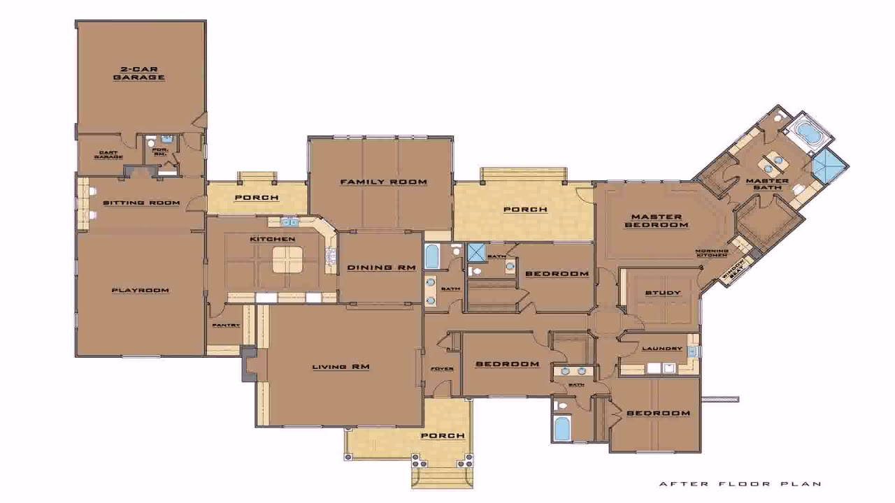 Ranch House Floor Plans With 12 Master Suites (see description)