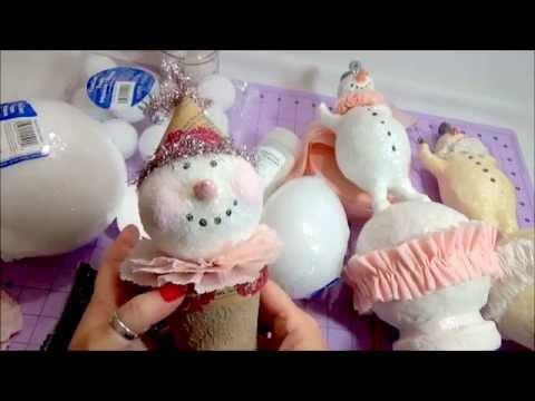 DIY Paperclay Snowman Tutorial