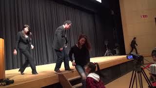 福岡県久留米市石橋文化センター にて、ほりえもん&猫ひろしの映画試写...