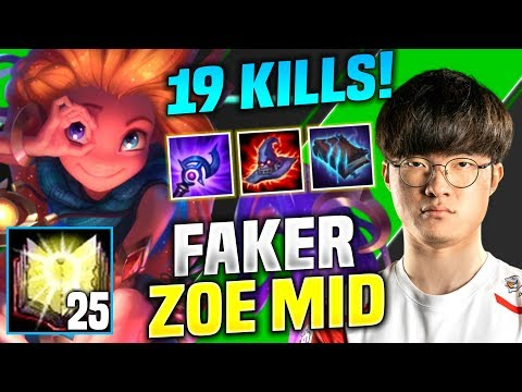 FAKER IS LITERALLY SMURFING WITH ZOE! - SKT T1 Faker Plays Zoe vs Azir Mid! | Season 2020 KR SoloQ