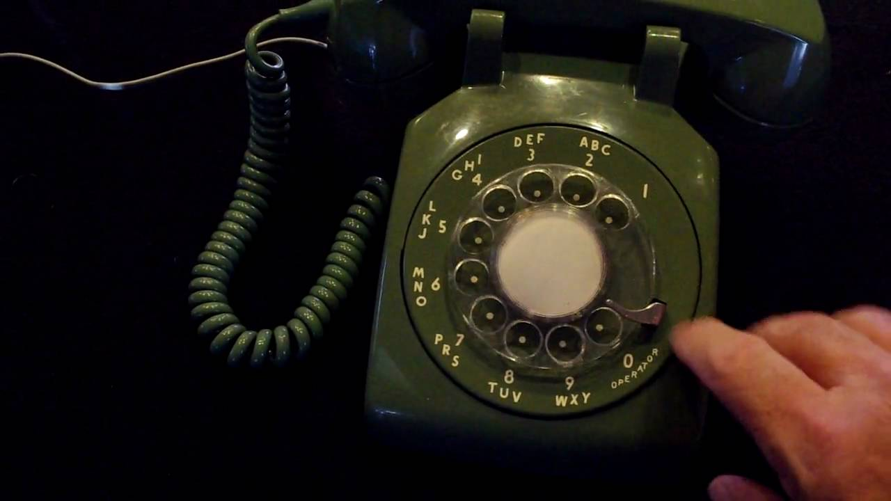 Green Rotary Phone Dialing