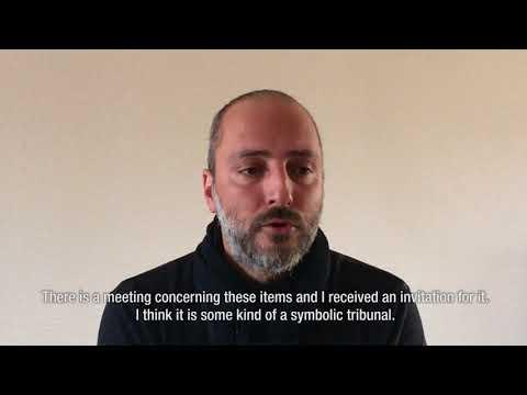 Heiko Bagdad (journalist) speaks as an observer of the Peoples Tribunal