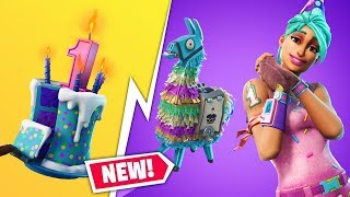 "NEW FORTNITE BIRTHDAY EVENT + FREE ""FOUNDERS PACK"" SKINS - NEW ""COMPACT SMG"""