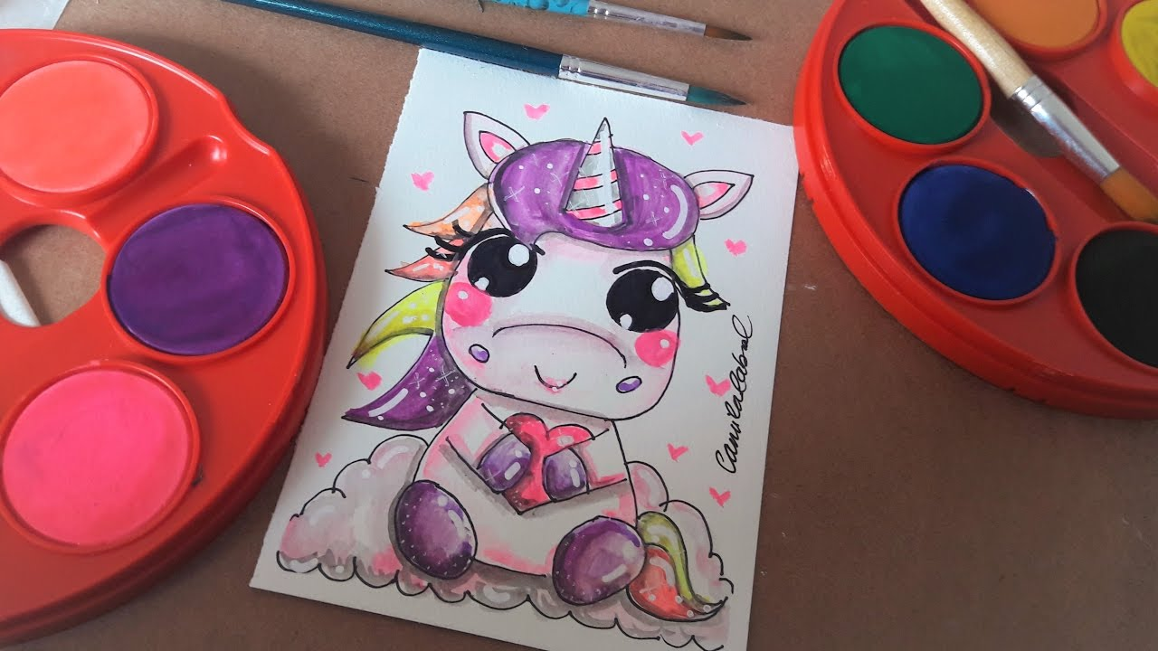 Como Desenhar Unicornio Unicorn Kawaii Cute Youtube